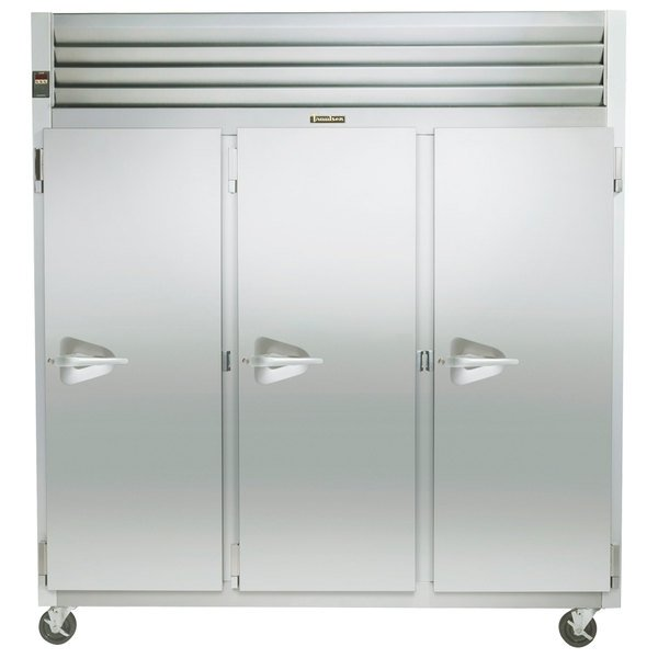 "Traulsen G31312 77"" G Series Three Section Solid Door Reach in Freezer with Right Hinged Doors (208-230/115) - 69.1 cu. ft."
