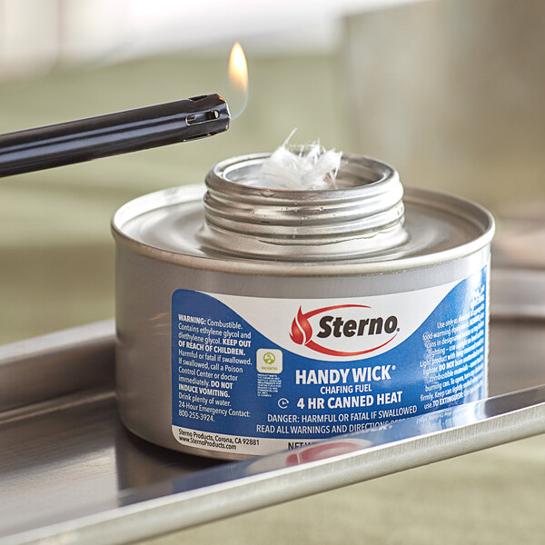 Sterno 10364 4 Hour Handy Wick Chafing Fuel with Safety Twist Cap - 24/Case Main Image 2