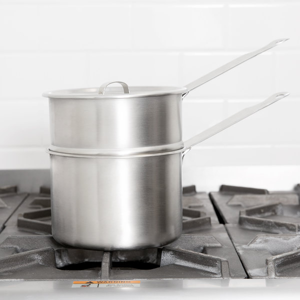 Vollrath 77023 2 Qt. Stainless Steel Double Boiler Inset with Round Bottom