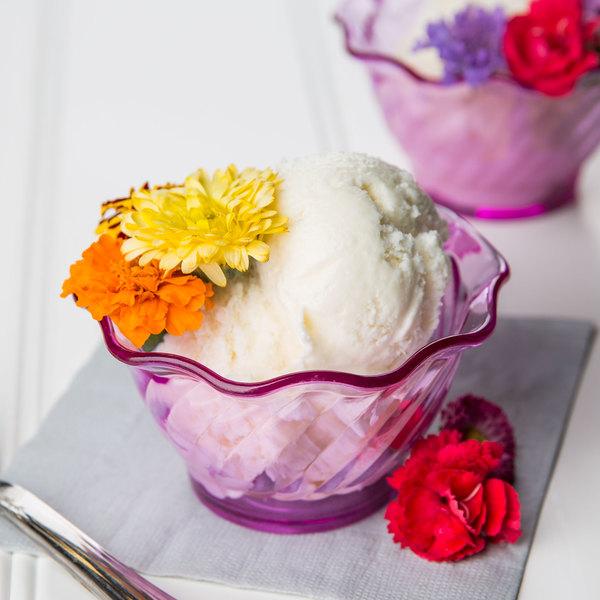 "GET DD-50-PI Dessert Time 5 oz. Transparent Pink 3 3/4"" Tulip Dessert Dish - 48/Case"