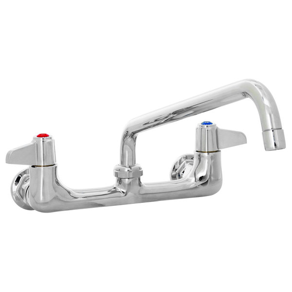 "Equip by T&S 5F-8WLS12 12 1/8"" Wall Mount Swivel Faucet with 8"" Centers"
