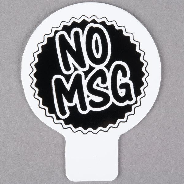 Deli Tag Topper - NO MSG - Black