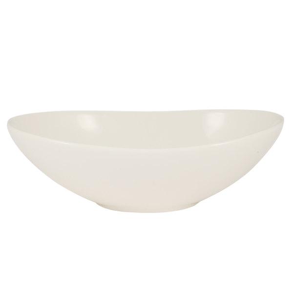 CAC COL-EG8 Oval Soup / Salad Serving Bowl 16 oz. White - 24/Case Main Image 1