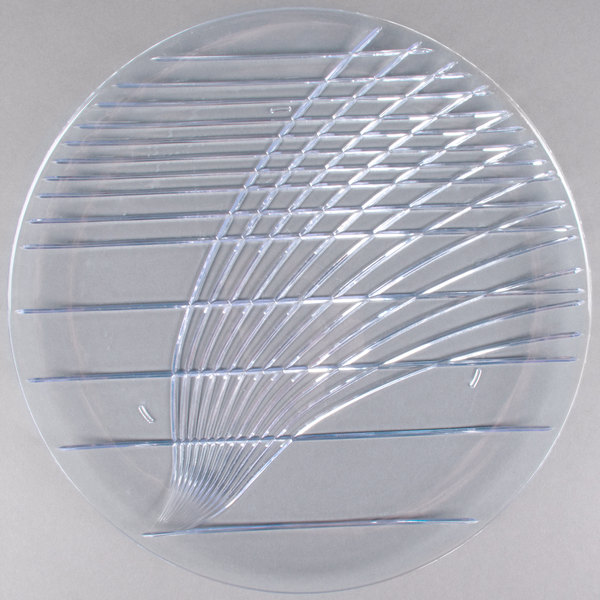 Carlisle 641307 Festival 13 inch Round Plastic Catering Tray