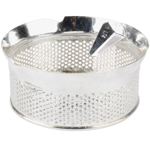 """Tellier P10040 5/32"""" Perforated Replacement Sieve for 15 Qt. Food Mill on Stand - Tinned Steel"""