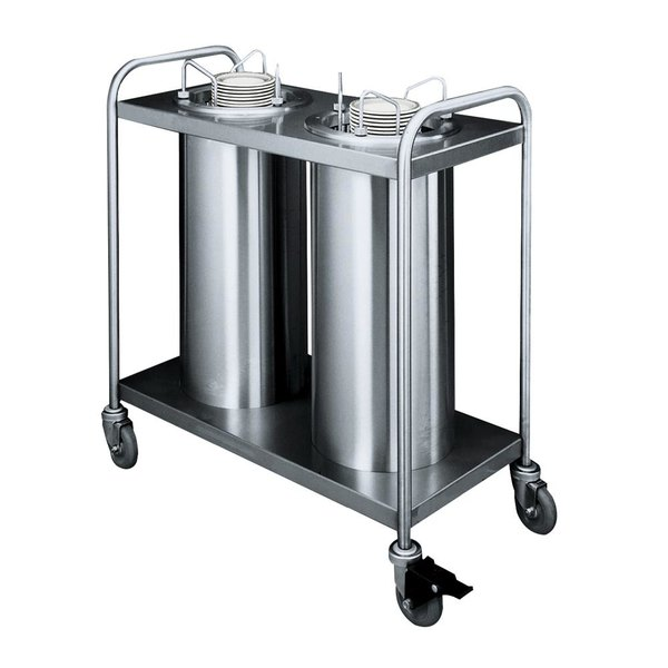 "APW Wyott HTL2-6 Trendline Mobile Heated Two Tube Dish Dispenser for 5 1/8"" to 5 3/4"" Dishes - 120V"