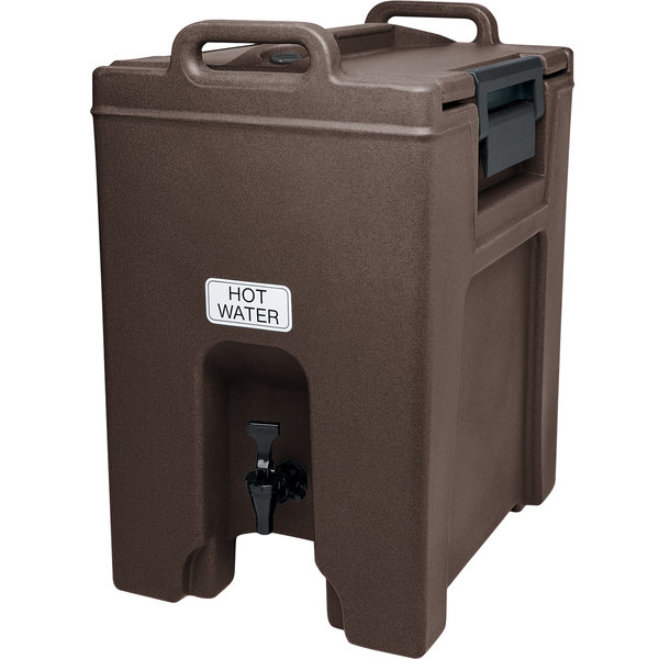 Cambro UC1000131 Ultra Camtainers® 10.5 Gallon Dark Brown Insulated Beverage Dispenser Main Image 1