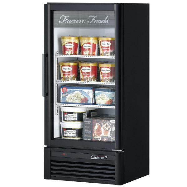 "Turbo Air TGF-10SD Black 26"" Super Deluxe Merchandiser Freezer - 9.3 Cu. Ft."