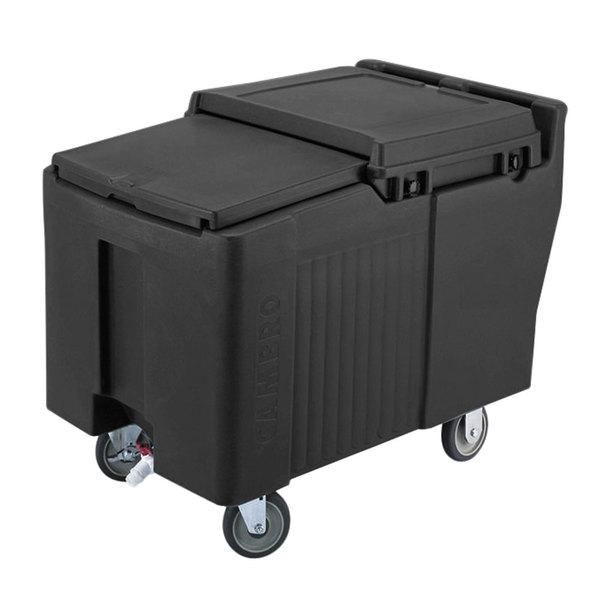 Cambro ICS175L110 SlidingLid™ Black Portable Ice Bin - 175 lb. Capacity Main Image 1