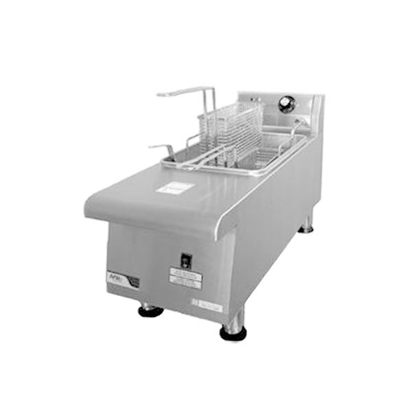 APW Wyott HEF-15Si-208/240 Heavy Duty 15 lb. Electric Commercial Countertop Deep Fryer - 208/240V