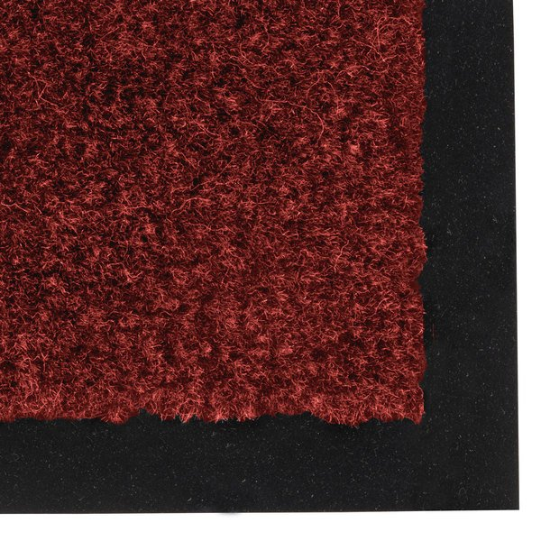 "Notrax 130 Sabre 3' x 60' Crimson Roll Carpet Entrance Floor Mat - 3/8"" Thick Main Image 1"