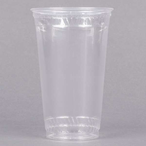 Fabri-Kal Greenware GC24 24 oz. Customizable Compostable Clear Plastic Cold Cup - 25/Pack