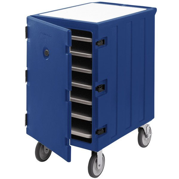 """Cambro 1826LTC3186 Camcart Navy Blue Mobile Cart for 18"""" x 26"""" Sheet Pans and Trays Main Image 1"""