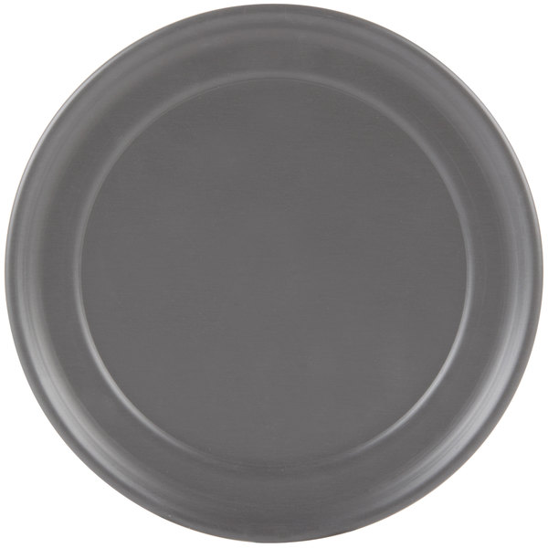 "American Metalcraft HCTP10 10"" Hard Coat Anodized Aluminum Wide Rim Pizza Pan"