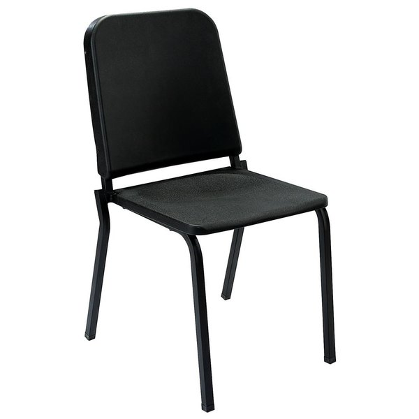National Public Seating 8210 Black Melody Stack Chair Main Image 1