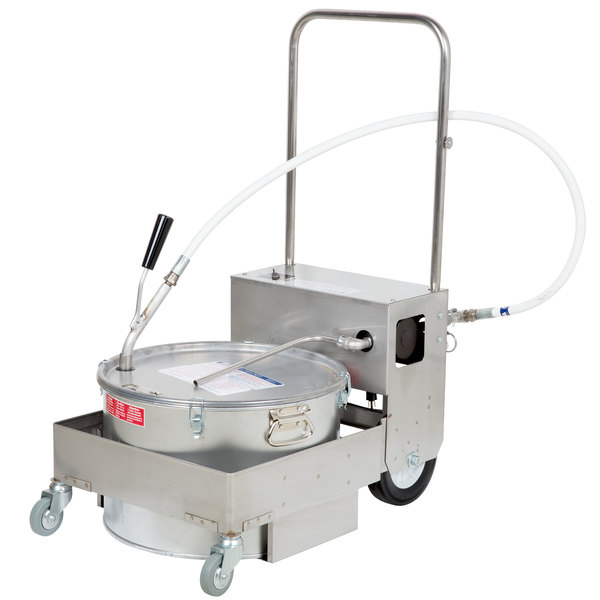 MirOil BD707 75 lb. Fryer Oil Electric Filter Machine and Discard Trolley Main Image 1
