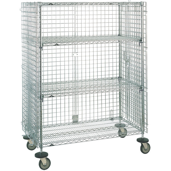 "Metro SEC55ECQ QwikSLOT Mobile Standard Duty Wire Security Cabinet 53"" x 27"" x 68"""