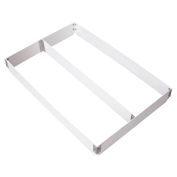 """MFG Tray 176511-1537 Two-Section Full Size Fiberglass Pan Extender Divided Lengthwise - 4"""" High"""
