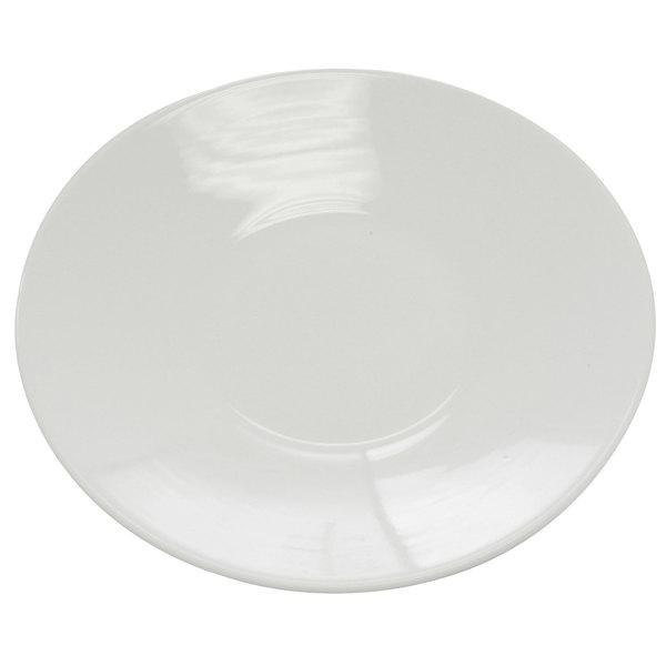 "CAC SHA-CR21 Sushia 11"" Super White Round Porcelain Coupe Salad Plate - 12/Case"
