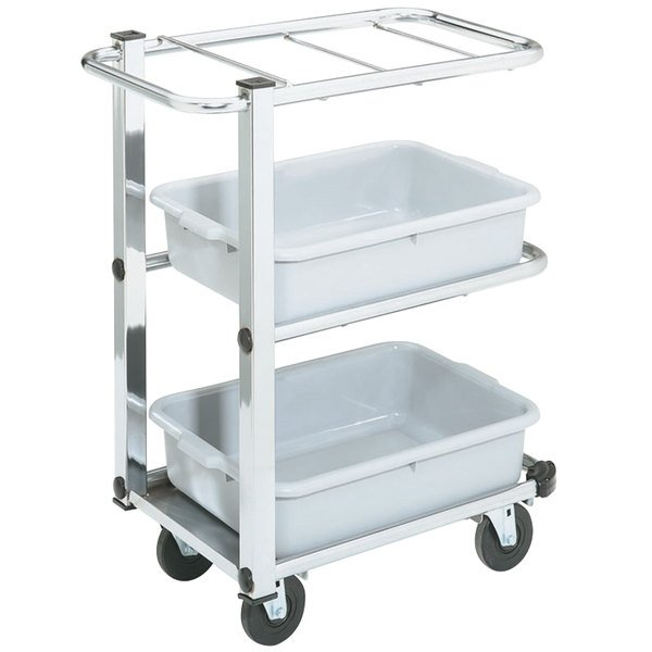 """Vollrath 97186 Cantilever Bussing Cart - 27"""" x 16"""" x 34 1/2"""""""