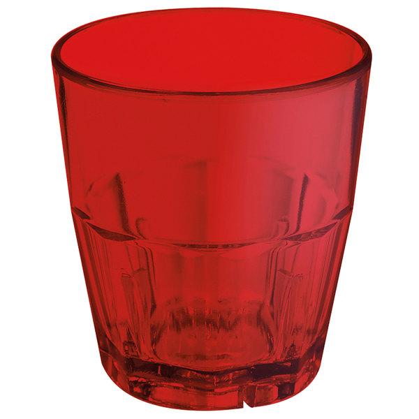GET 9955-1-R Bahama 5.5 oz. Red Break-Resistant Plastic Tumbler - 72/Case