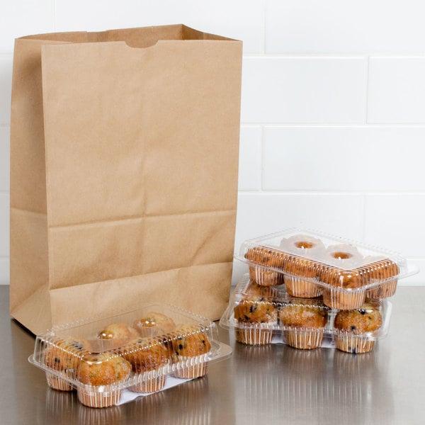 Duro 1/6 Brown Paper Barrel Sack - 500/Bundle
