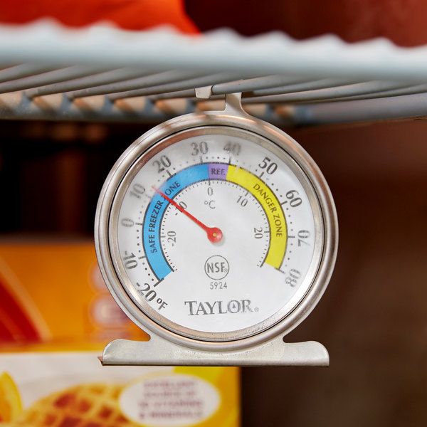 "Taylor 5924 2 5/8"" Classic Refrigerator / Freezer Dial Thermometer"
