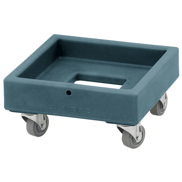 Cambro CD1313401 250 lb. Slate Blue Camdolly Milk Crate Dolly Main Image 1
