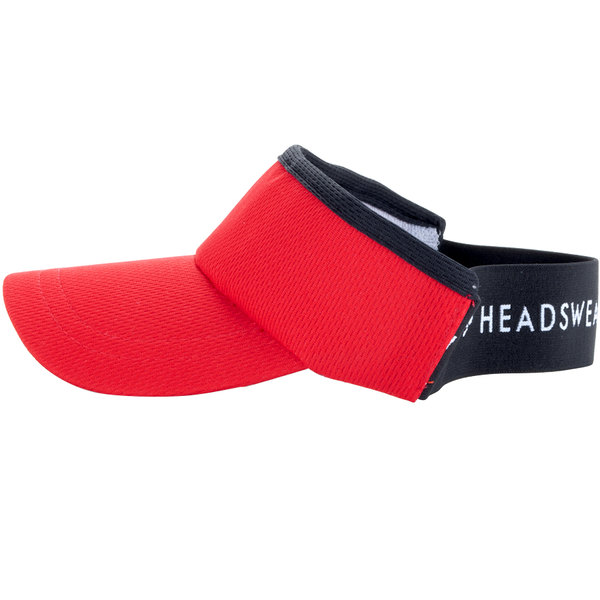 1876551ac69fa Headsweats Red Customizable CoolMax Chef Visor