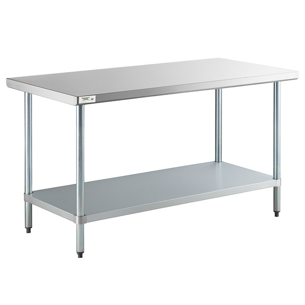30 X 60 Stainless Steel Work Table 18 Gauge Undershelf