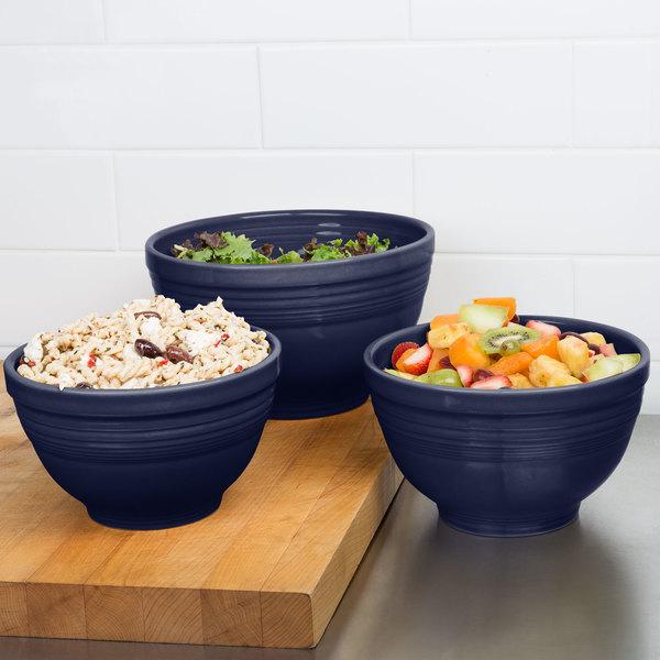 Homer Laughlin 967105 Fiesta Cobalt Blue 3-Piece Prep Baking Bowl Set - 2/Case