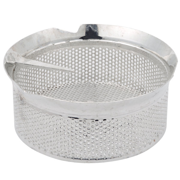 """Tellier M5030 1/8"""" Perforated Replacement Sieve for # 5 Food Mill - Tin-Plated Steel Main Image 1"""