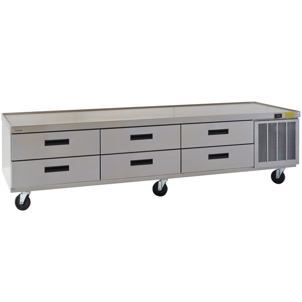 """Delfield F2999CP 99"""" Six Drawer Refrigerated Chef Base"""