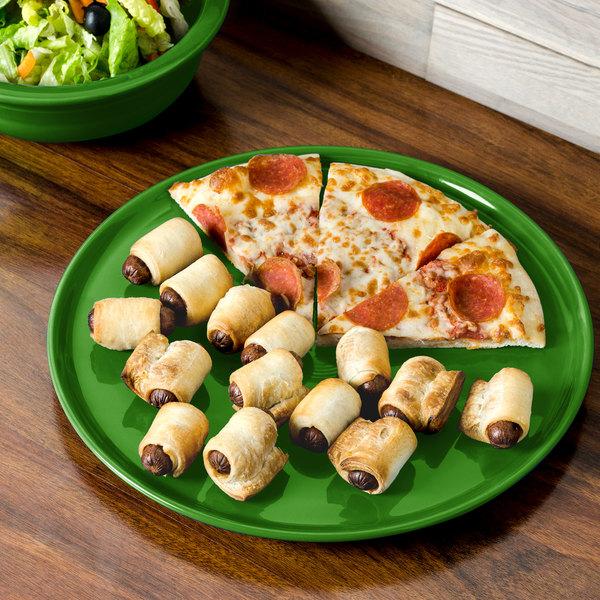 "Homer Laughlin 575324 Fiesta Shamrock 12"" China Pizza / Baking Tray - 4/Case"