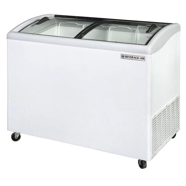 "Beverage Air NC43HC-1-W 43"" Curved Lid Novelty Display Freezer"