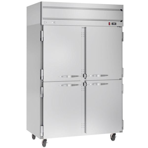"Beverage-Air HFS2-1HS Horizon Series 52"" Solid Half Door Reach-In Freezer with Stainless Steel Interior Main Image 1"