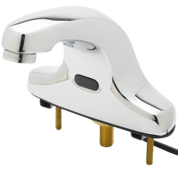 "Equip by T&S 5EF-2D-DS 5"" Electronic Hands Free Deck Mounted Cast Spout Faucet - ADA Compliant"