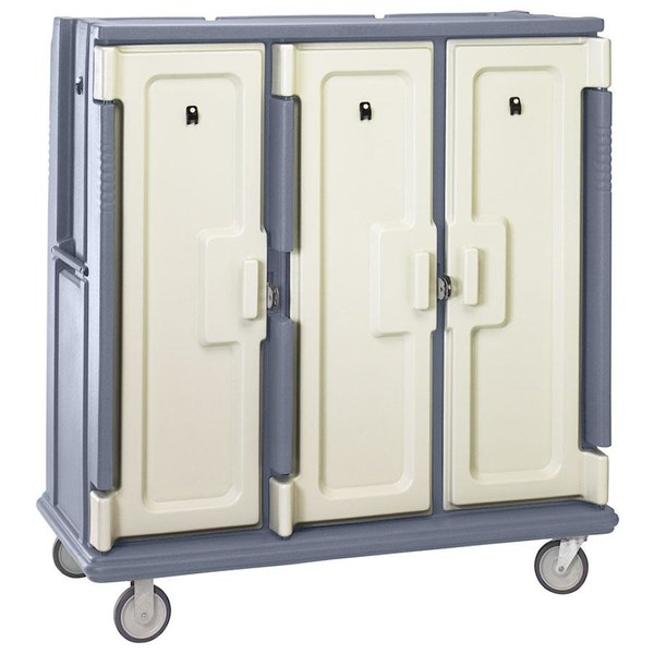 Cambro MDC1411T60191 Granite Gray Meal Delivery Cart with Security Package Main Image 1