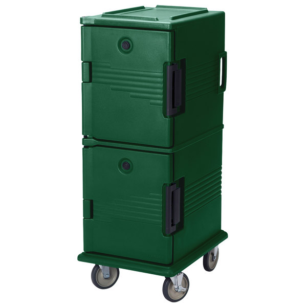 Cambro UPC800SP519 Green Camcart Ultra Pan Carrier - Front Load Tamper Resistant