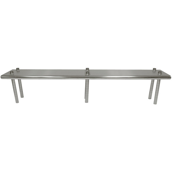 "Advance Tabco TS-12-120 12"" x 120"" Table Mounted Single Deck Stainless Steel Shelving Unit - Adjustable"
