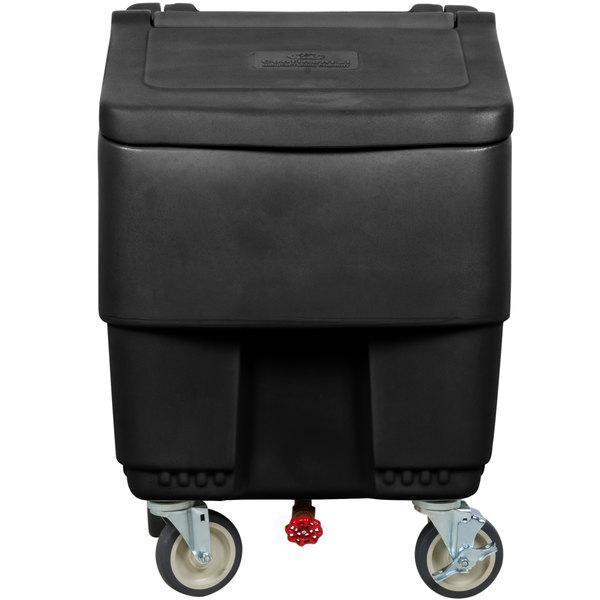 Continental 9725BK Con-Serv 125 lb. Black Ice Bin Main Image 1