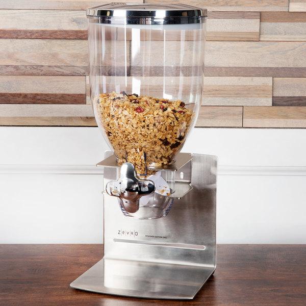 Zevro KCH-06145 Stainless Steel Designer Single Canister Dry Food Dispenser