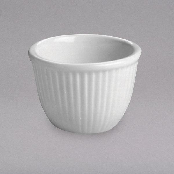 Hall China 8500AWHA 6 oz. White Fluted Custard Dish - 24/Case