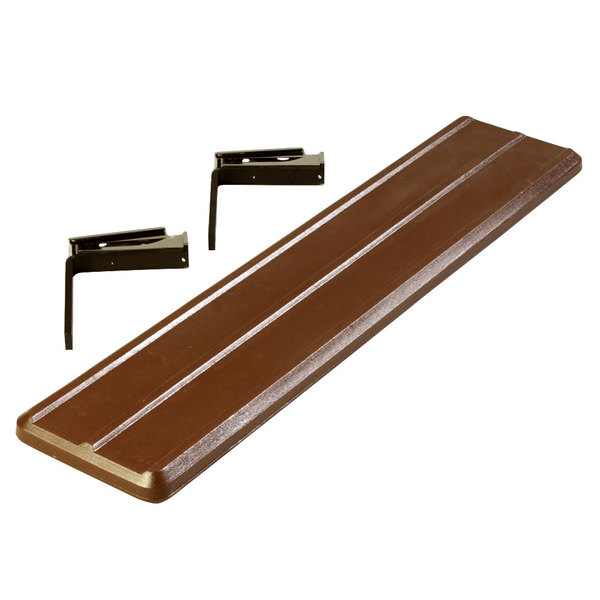 """Carlisle 662001 Brown Tray Slide for 4' """"Six Star"""" Portable Food Bars"""