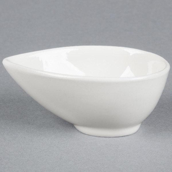 American Metalcraft PORB150 2 oz. White Egg-Shaped Porcelain Cup