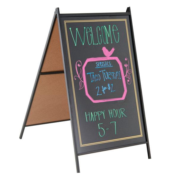 "24"" x 36"" Black A-Frame Sidewalk Sign Board Kit RMBA-2436-B"