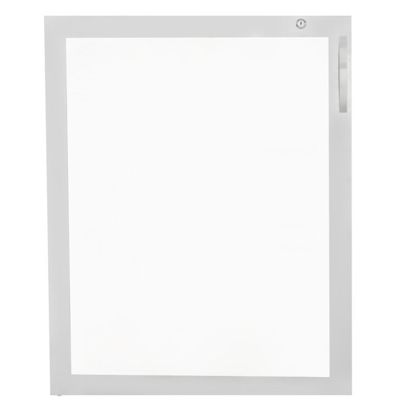 Avantco 17817296 Left Hinged Glass Door with Stainless Steel Frame Main Image 1