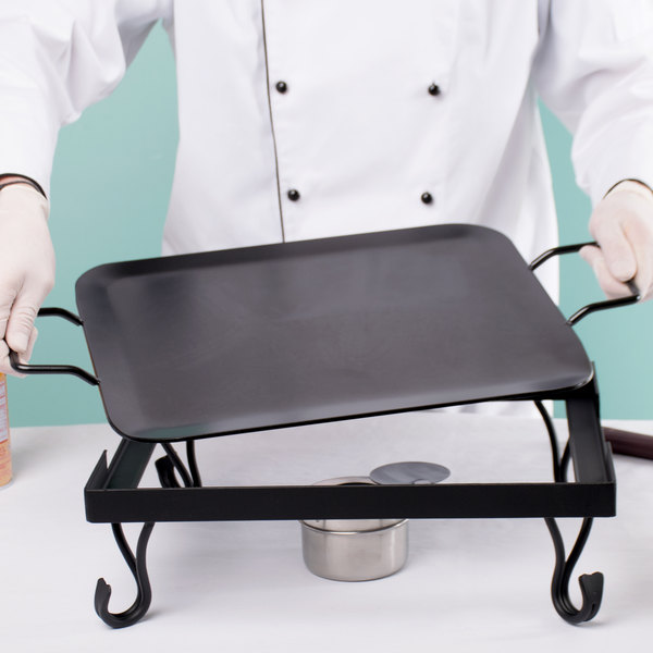 American Metalcraft G61 1/2 Size Wrought Iron Griddle Main Image 5