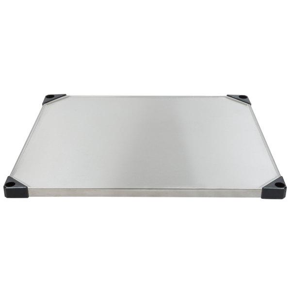 "Metro 2430FS 24"" x 30"" Flat Stainless Steel Solid Shelf"