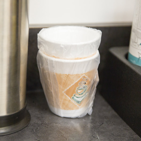 Dart 8X8GWRAP 8 oz. Cafe G Hotel and Motel Individually Wrapped Foam Hot Cup - 900/Case